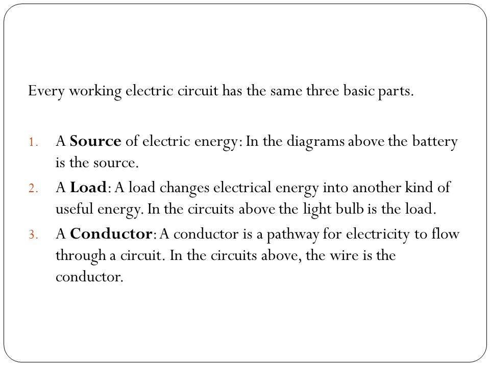 Lesson 2 Electrical Circuits. Electricity on the Move part 2 ...