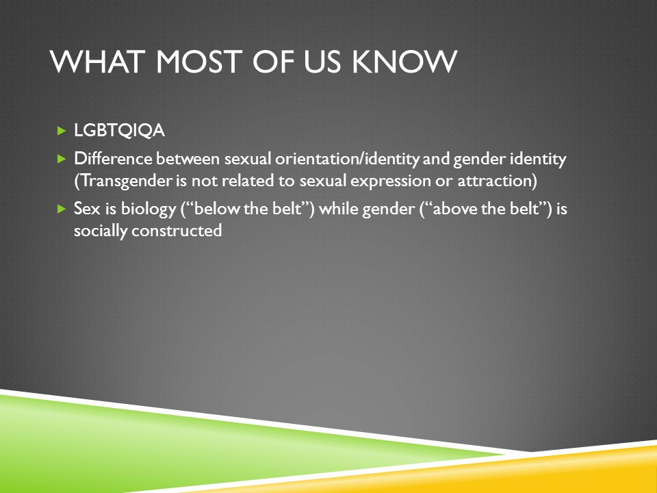 Sexual identity expression