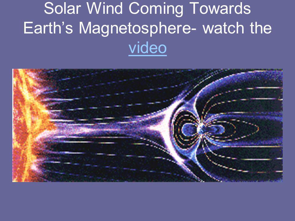 Solar Wind Coming Towards Earths Magnetosphere- watch the video video