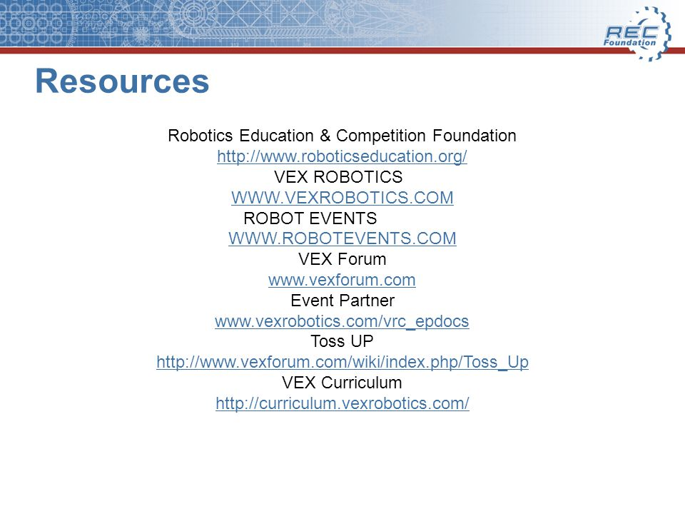 Extending The Hands On Experience Through Vex Robotics Competition