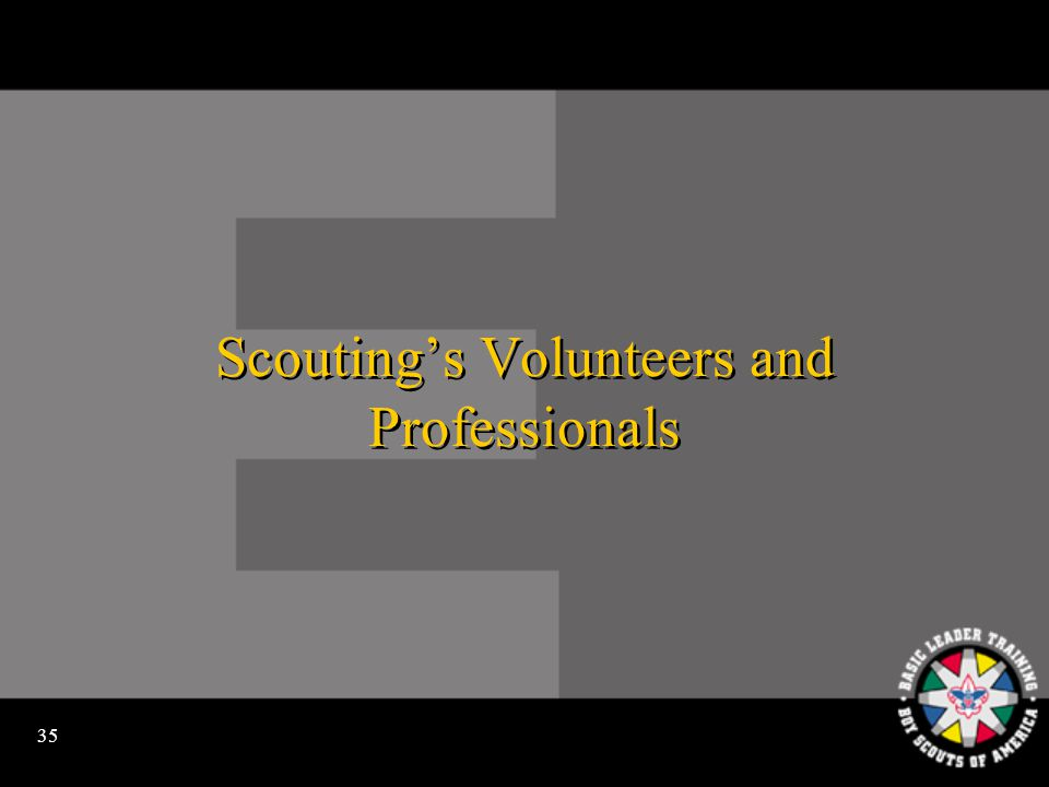 34 Scoutings Districts and Councils
