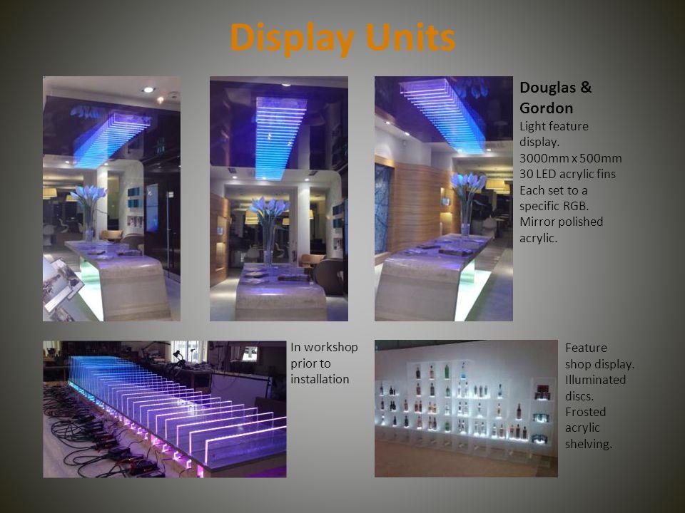 Display Units Douglas u0026 Gordon Light feature display. & The Power to Illuminate World leaders in LED acrylic light panels ...