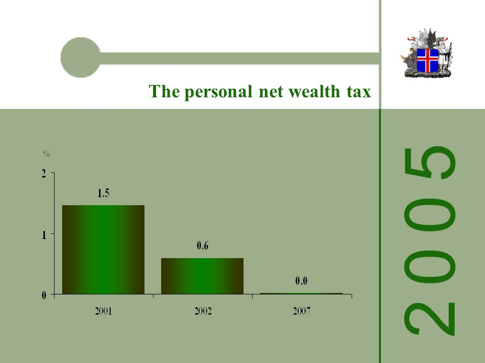 The personal net wealth tax