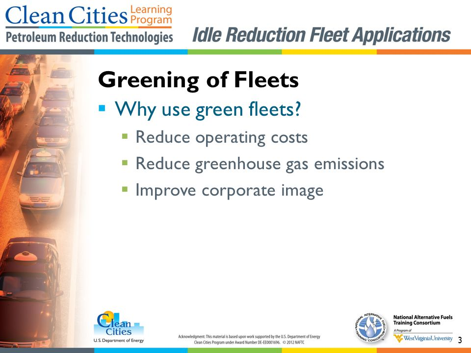 3 Why use green fleets.