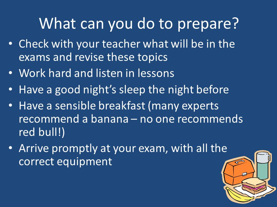 What can you do to prepare.