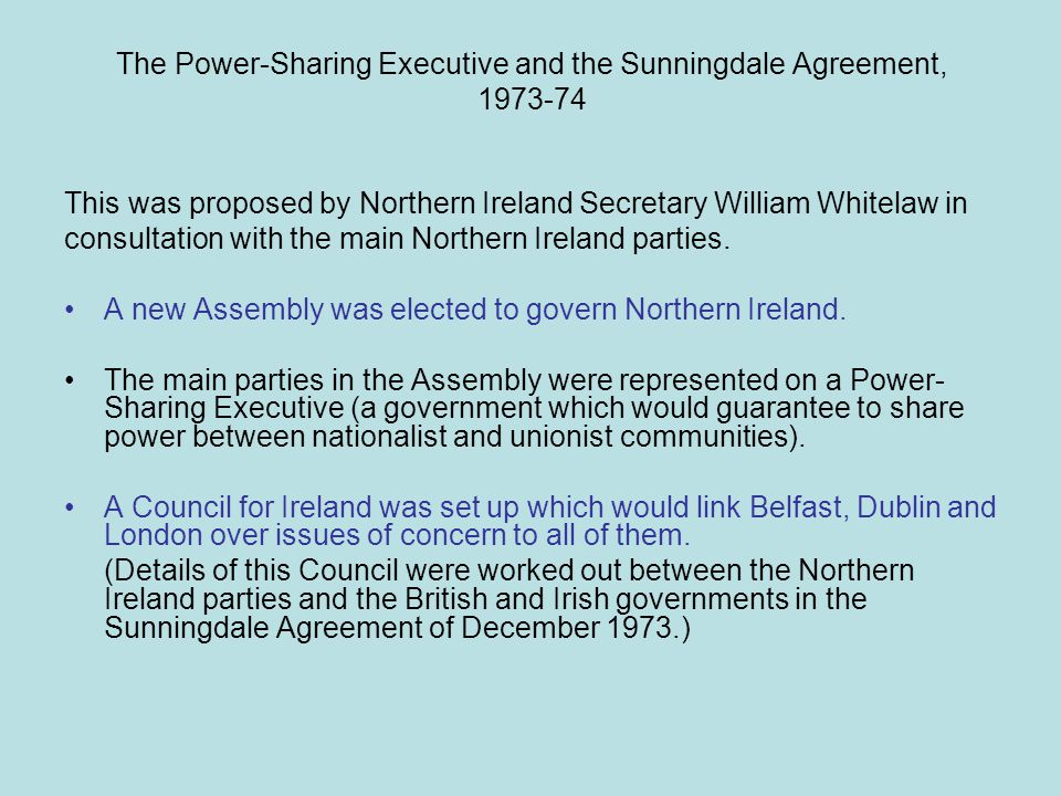 Sunningdale Agreement Power Sharing Executive Images Ireland In