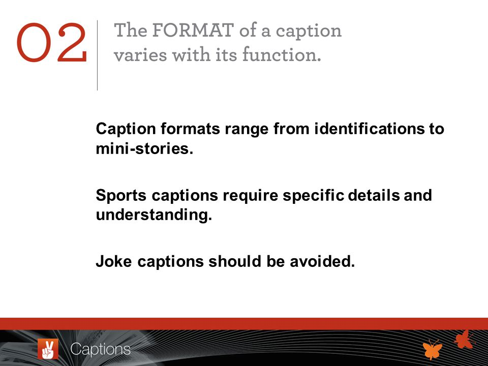Caption formats range from identifications to mini-stories.