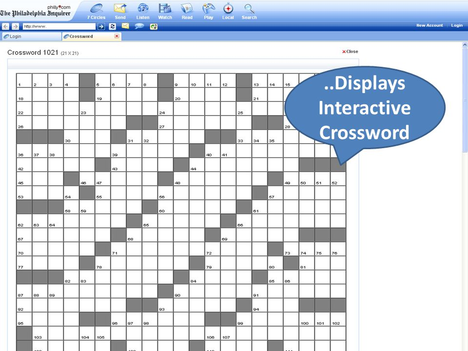 ..Displays Interactive Crossword