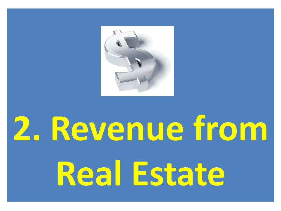 2. Revenue from Real Estate
