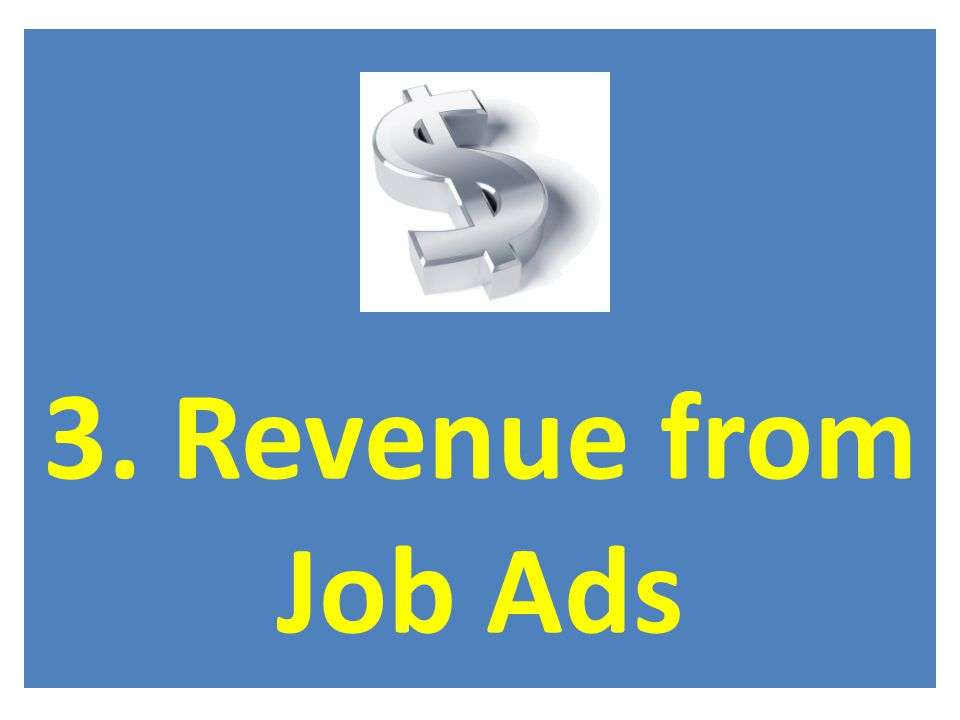 3. Revenue from Job Ads