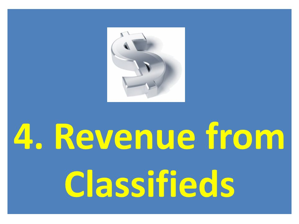 4. Revenue from Classifieds