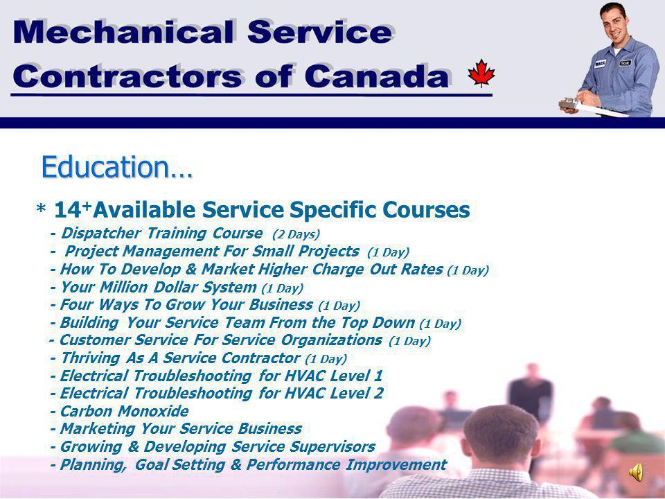 Mechanical Service Contractors Of Canada Membership Education