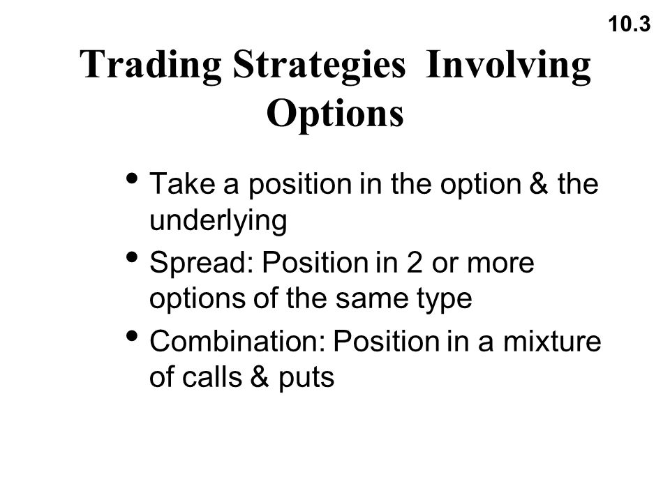Option trading strategies ppt