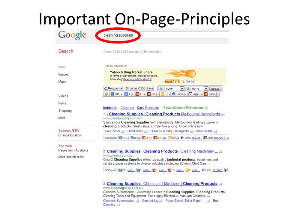 Important On-Page-Principles