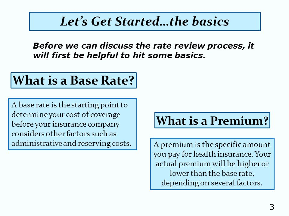 What is a Base Rate.