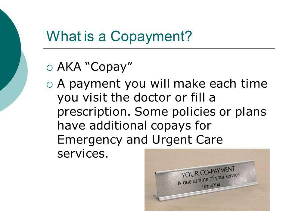 What is a Copayment.