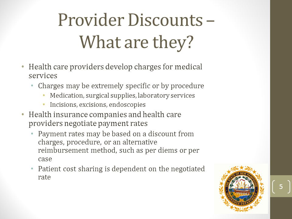 Provider Discounts – What are they.