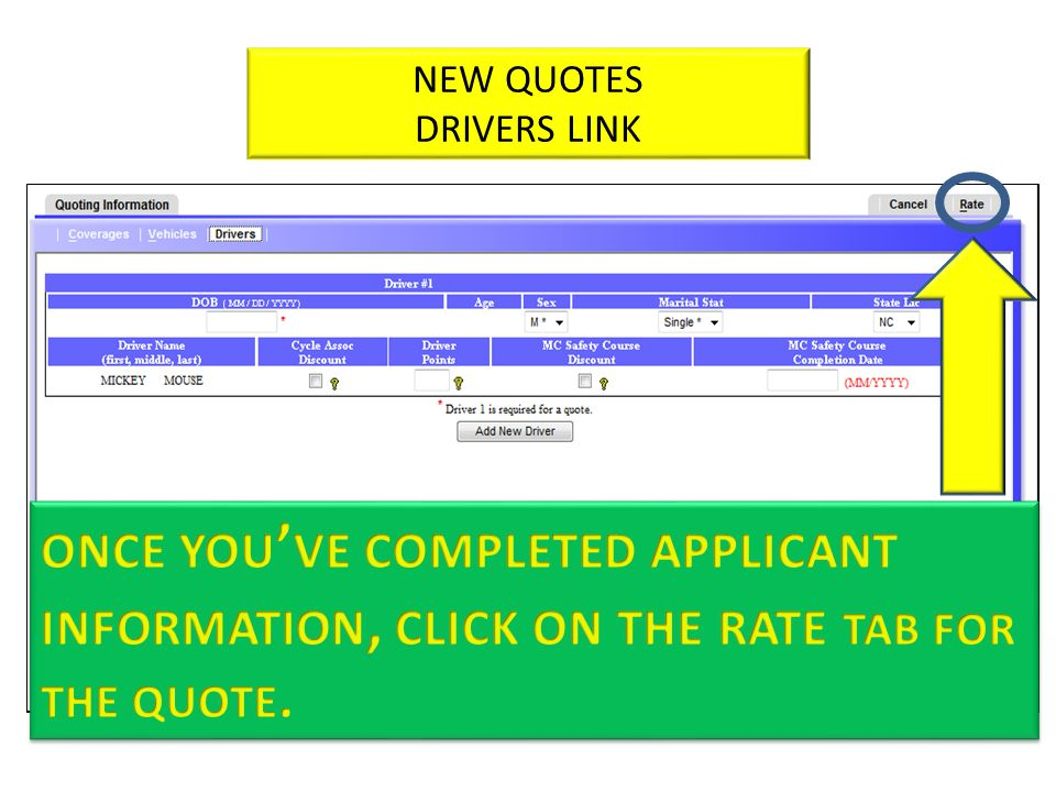 NEW QUOTES DRIVERS LINK