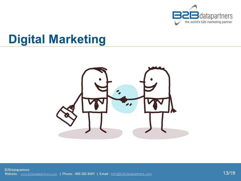 B2Bdatapartners Website:-   | Phone: |  - Digital Marketing 13/19