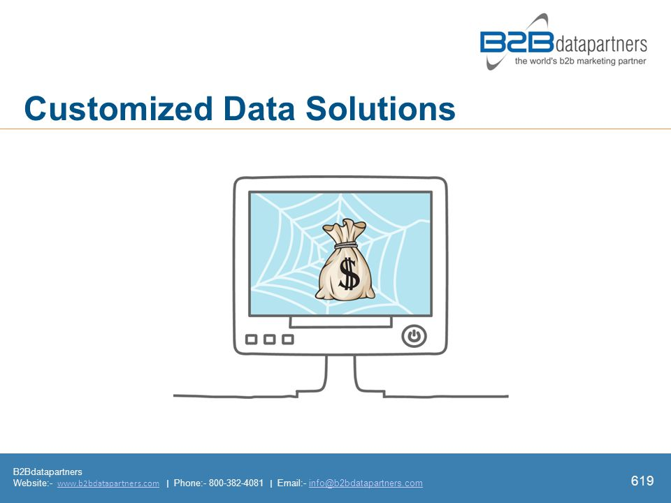 B2Bdatapartners Website:-   | Phone: |  - Customized Data Solutions 619