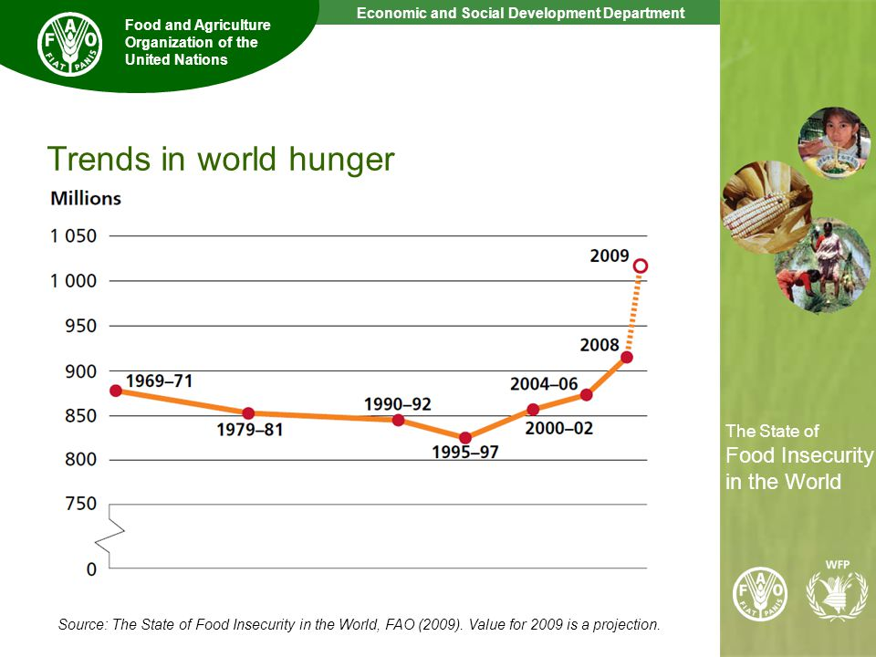 3 The State of Food Insecurity in the World Economic and Social Development Department Food and Agriculture Organization of the United Nations The State of Food Insecurity in the World Source: The State of Food Insecurity in the World, FAO (2009).