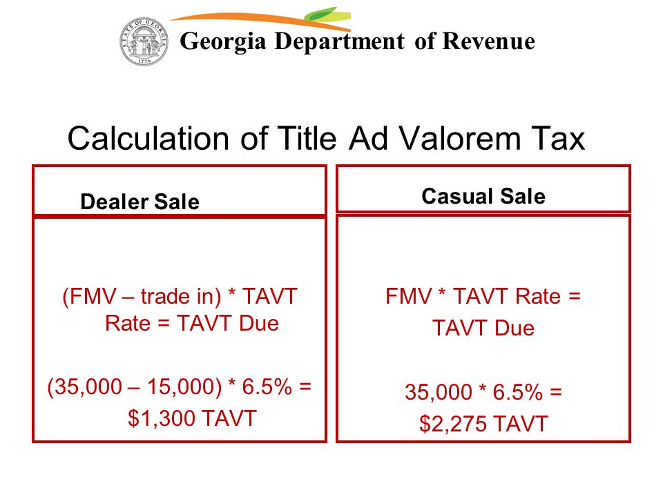 Georgia Ad Valorem Tax Calculator >> Georgia Department Of Revenue Changes To Georgia Law Impacting The