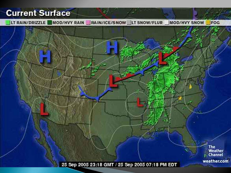 Stationary Front On A Weather Map.Reading A Weather Map Ppt Video Online Download