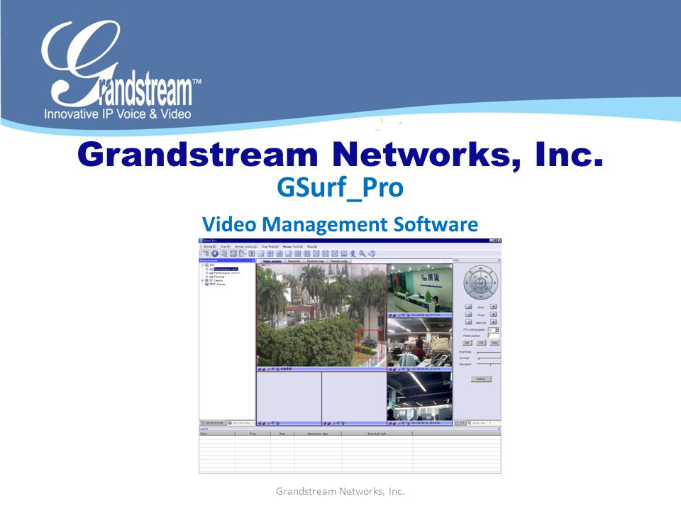 Grandstream Networks, Inc. GSurf_Pro Video Management Software