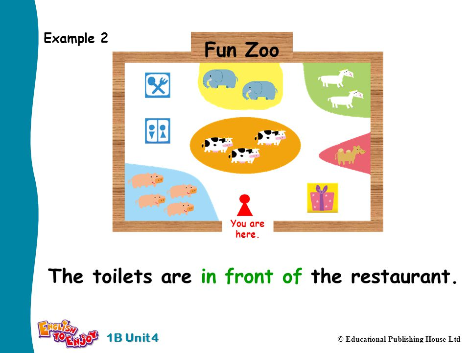 1B Unit 4 © Educational Publishing House Ltd Example 2 You are here.