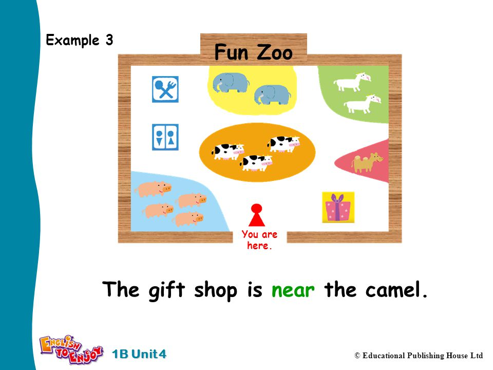 1B Unit 4 © Educational Publishing House Ltd Example 3 You are here.