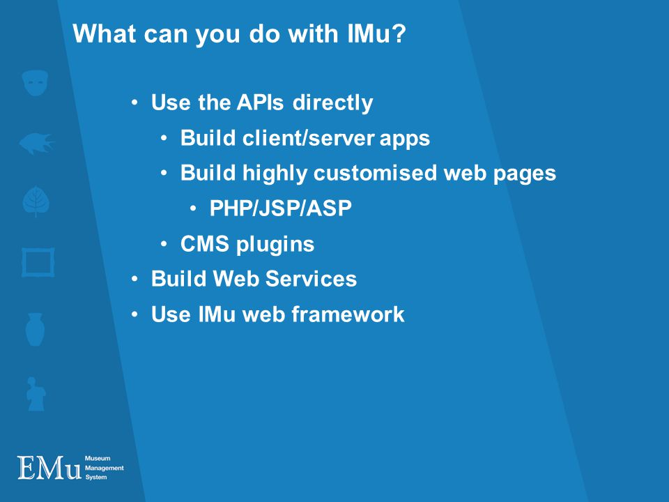 What can you do with IMu.