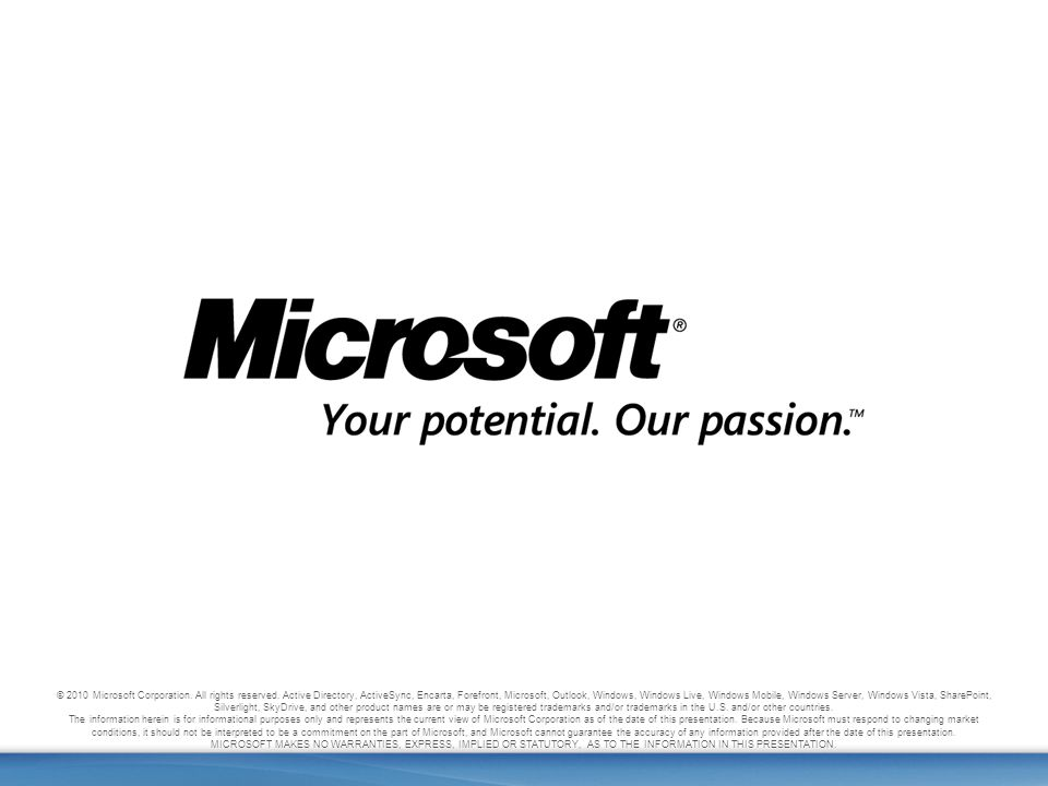 33 Office Web Apps © 2010 Microsoft Corporation. All rights reserved.