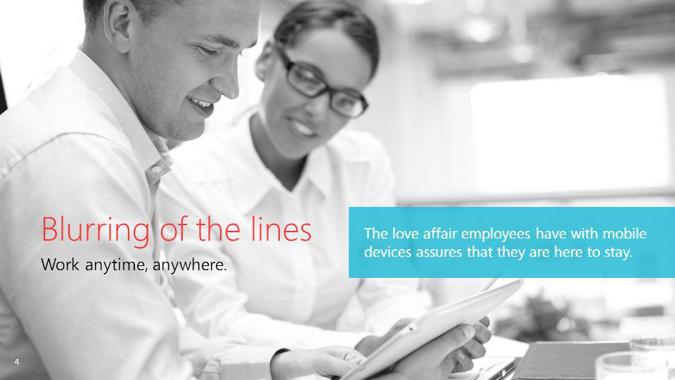 4 The love affair employees have with mobile devices assures that they are here to stay.