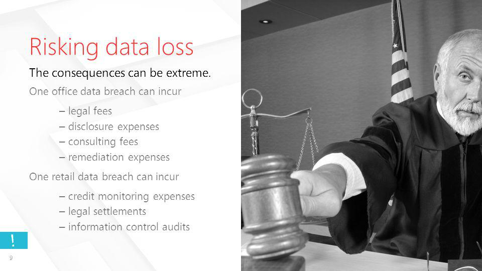 9 . Risking data loss The consequences can be extreme.