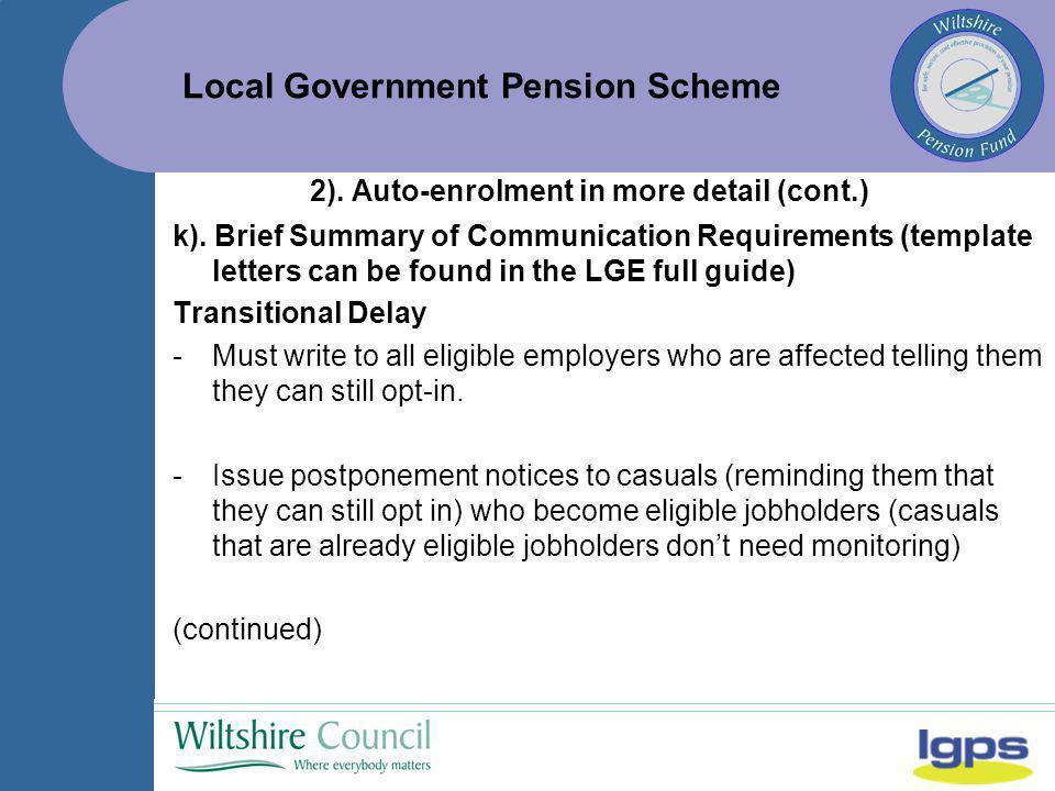 Local government pension scheme november 2013 auto enrolment the 19 local government spiritdancerdesigns Gallery