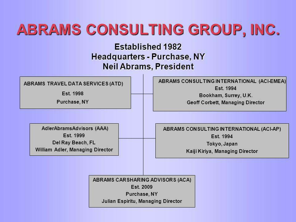 ABRAMS CONSULTING GROUP, INC  The leading specialized