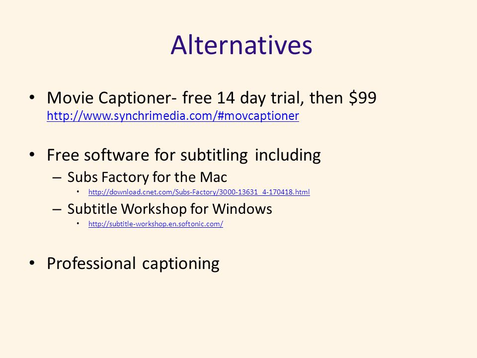 Using Free Tools at YouTube to Caption Videos Presented 6/19