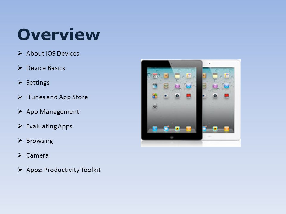 IPad Basic Training Everything you wanted to know but were