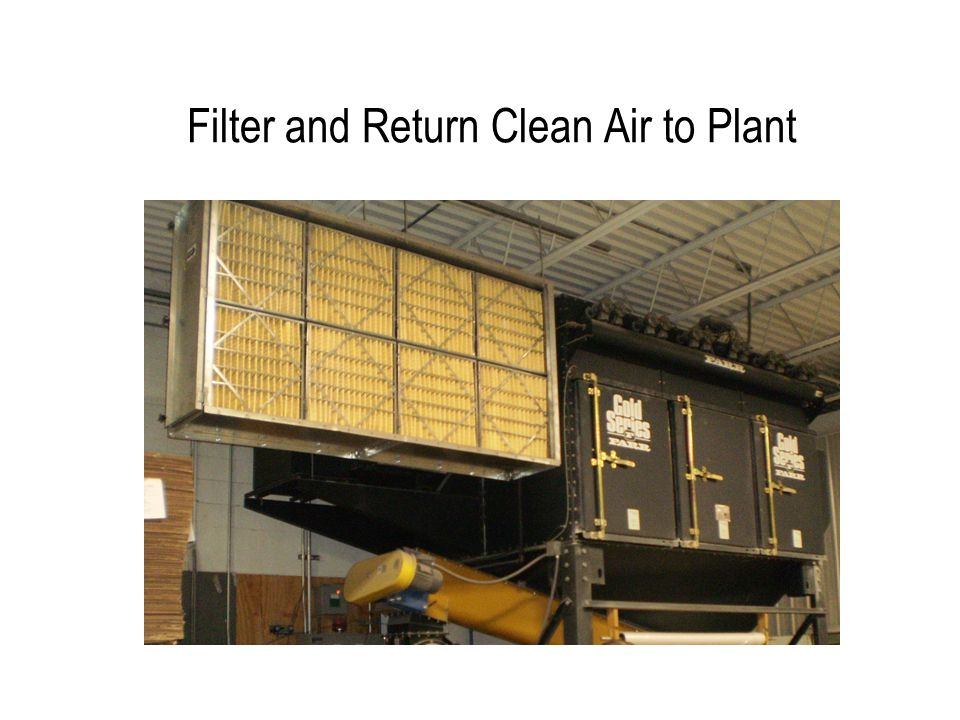 Filter and Return Clean Air to Plant