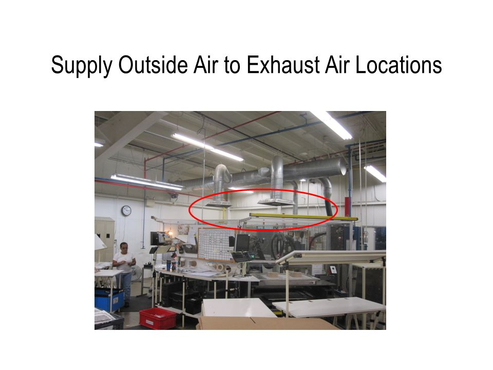 Supply Outside Air to Exhaust Air Locations