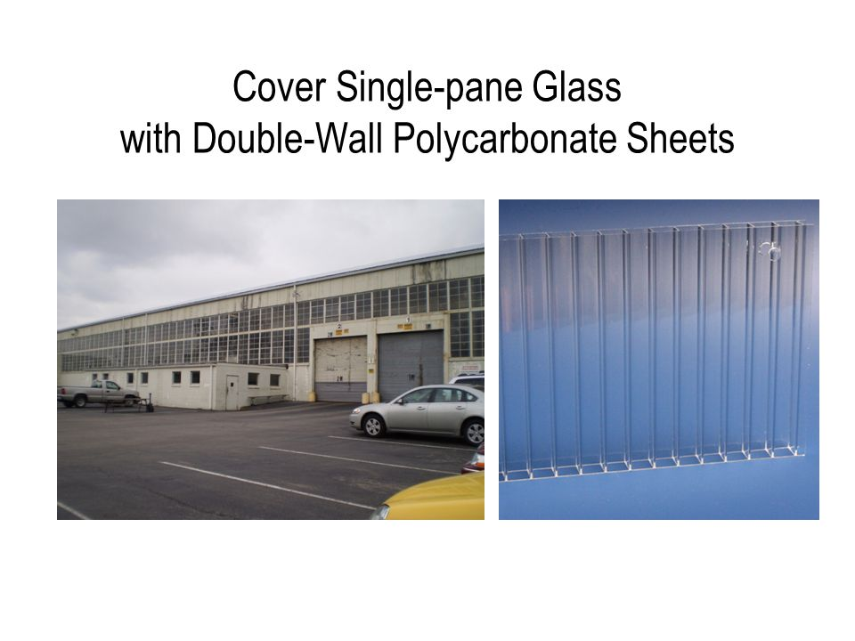 Cover Single-pane Glass with Double-Wall Polycarbonate Sheets