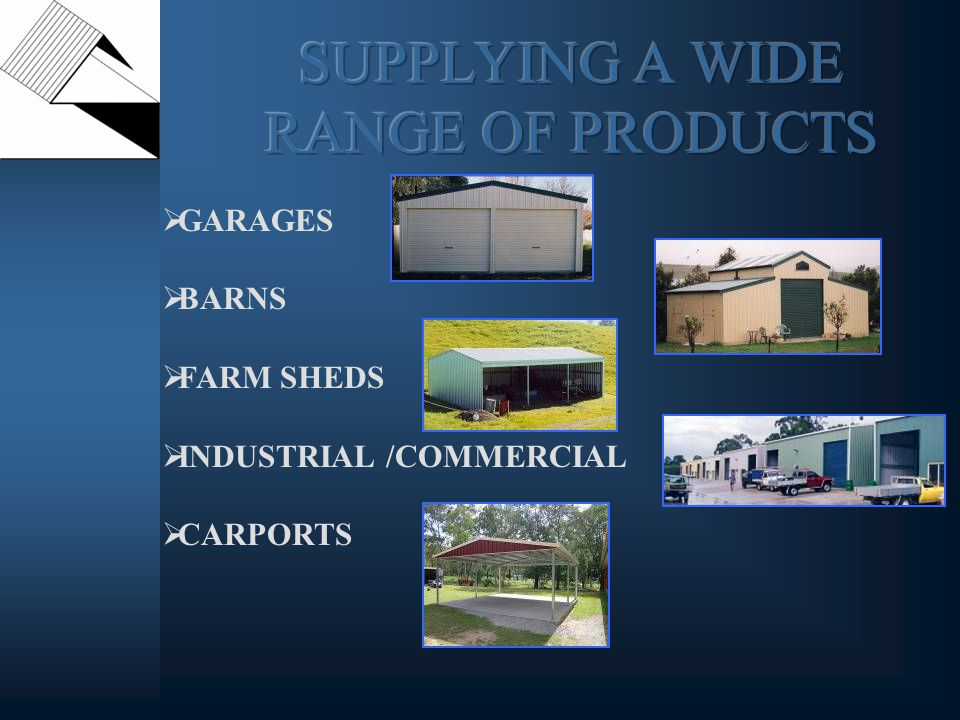 GARAGES BARNS FARM SHEDS INDUSTRIAL /COMMERCIAL CARPORTS