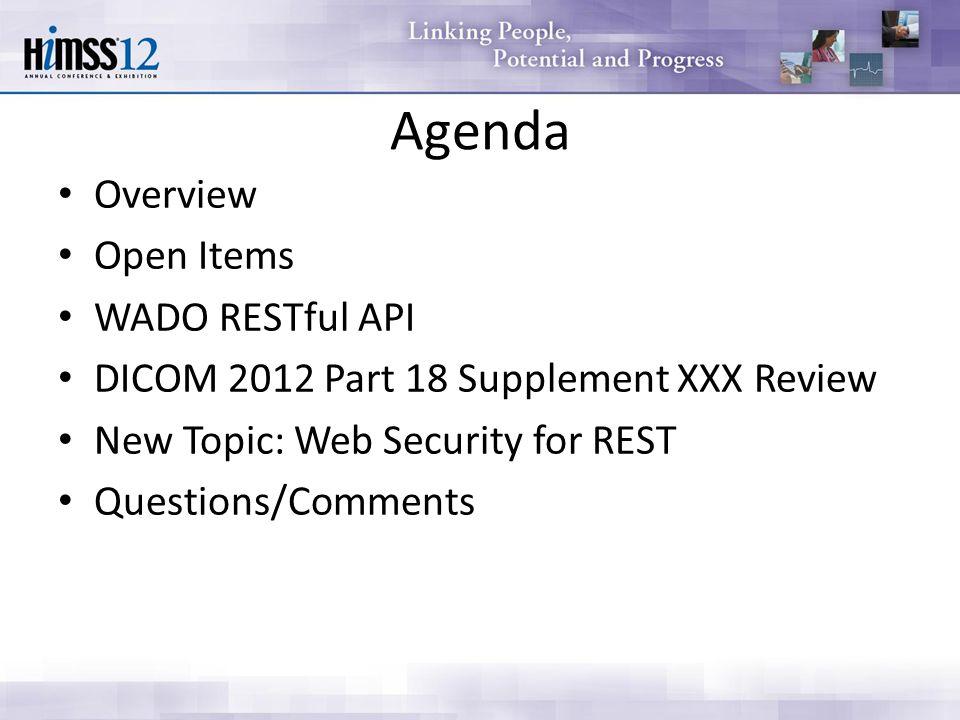 WADO RESTful API DICOM WG-27 February ppt download