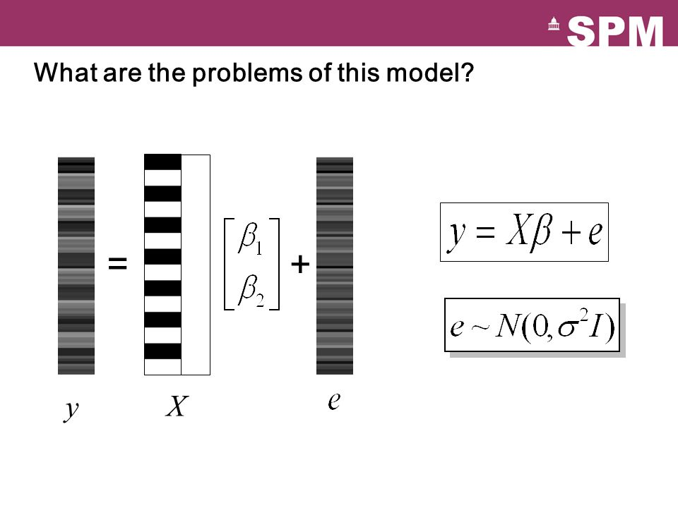 = + y X What are the problems of this model