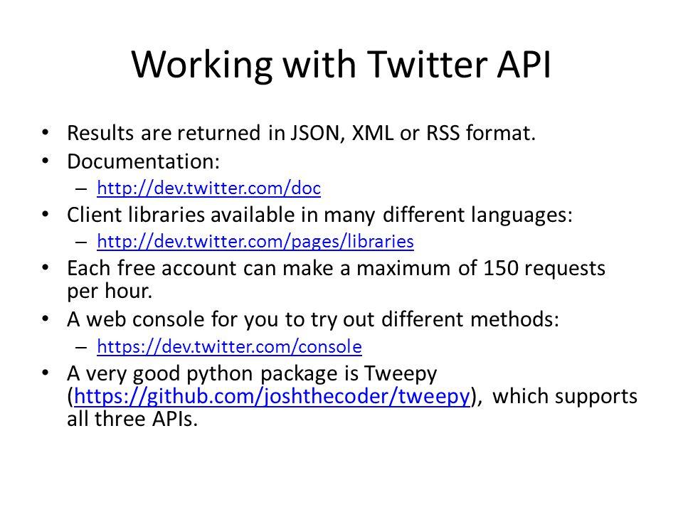 Overview of Twitter API Nathan Liu  Twitter API Essentials