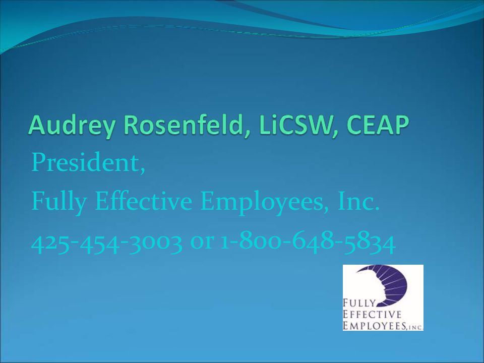 President, Fully Effective Employees, Inc or