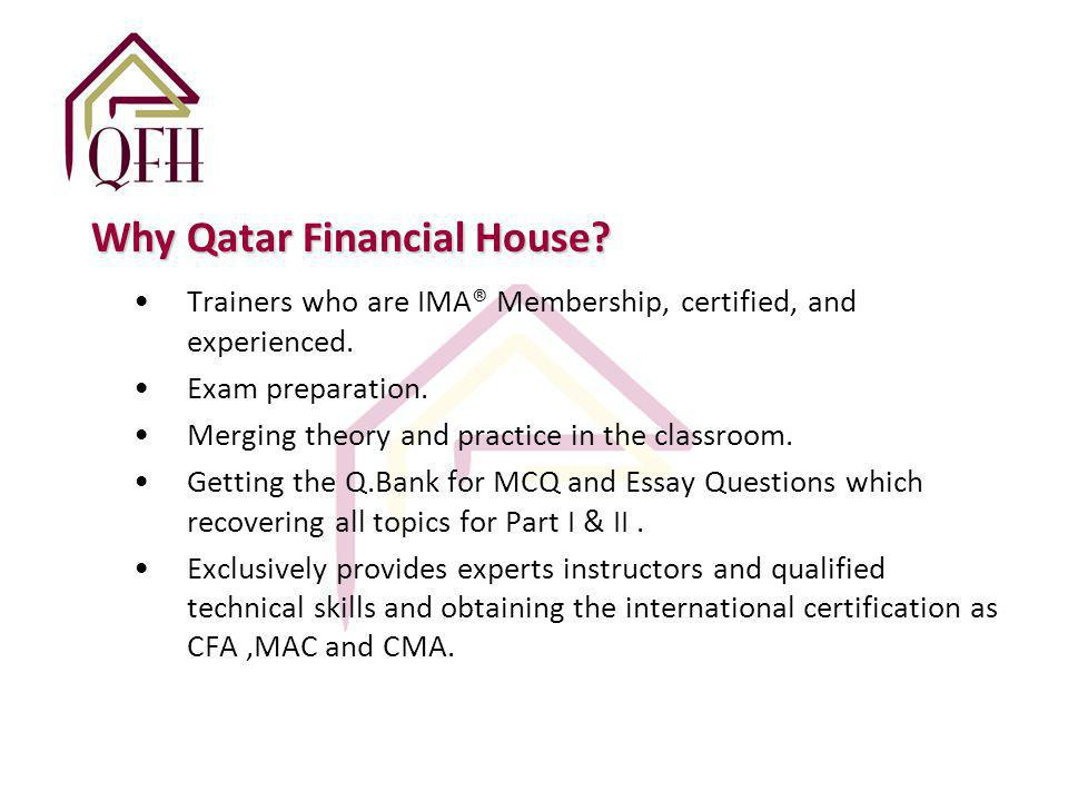 Qatar Financial House For Consultations Wll Certified Management
