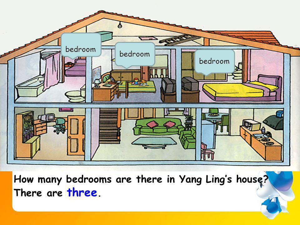 How many bedrooms are there in Yang Lings house There are three. bedroom