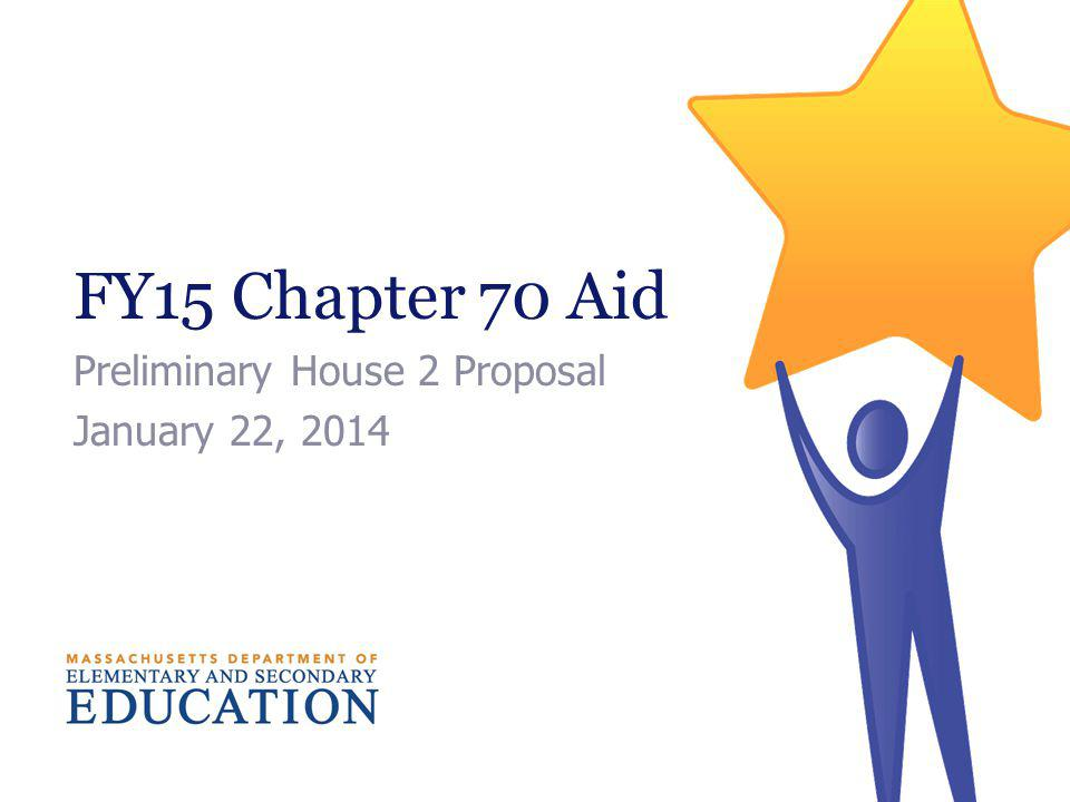 FY15 Chapter 70 Aid Preliminary House 2 Proposal January 22, 2014