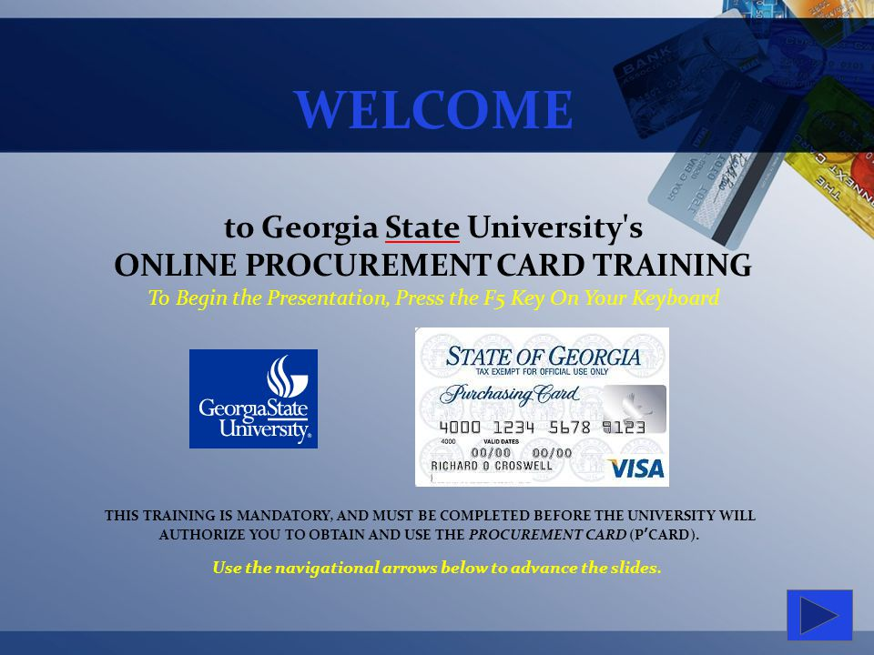 Welcome To Georgia State Universitys Online Procurement Card